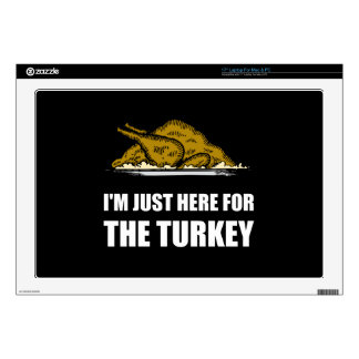 """Just Here For Thanksgiving Turkey 17"""" Laptop Decal"""
