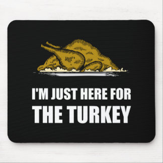 Just Here For Thanksgiving Turkey Mouse Pad