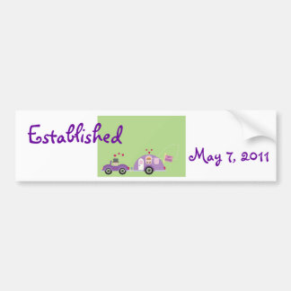 Just Hitched couple bumper sticker