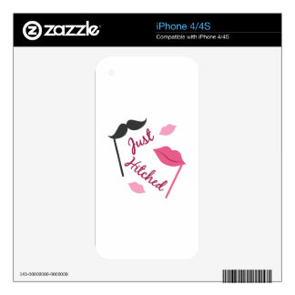 Just Hitched iPhone 4S Skins