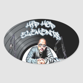 Just Hits  Hip Hop Elements ALL CITY Radio Oval Sticker