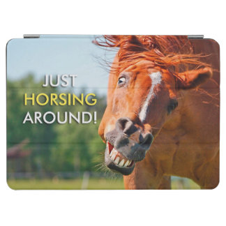 Just Horsing Around Horse Photograph iPad Air Cover