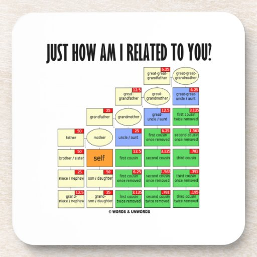 Just How Am I Related To You? (Genealogy) Drink Coaster
