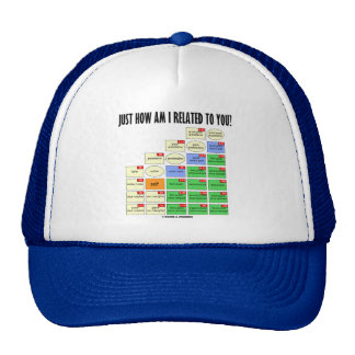 Just How Am I Related To You? (Genealogy) Trucker Hat