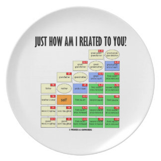 Just How Am I Related To You Genealogy Party Plates