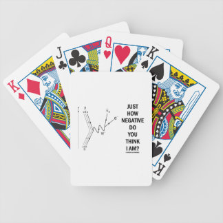 Just How Negative Do You Think I Am? (Beta-Neg.) Bicycle Playing Cards