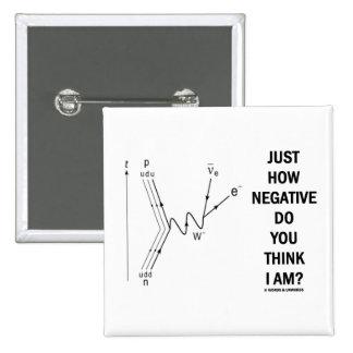 Just How Negative Do You Think I Am? (Beta-Neg.) 2 Inch Square Button