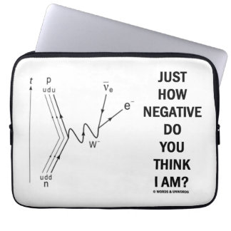 Just How Negative Do You Think I Am? (Beta-Neg.) Laptop Sleeve