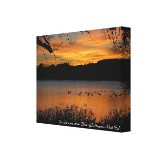 Just Imagine How Beautiful Heaven Must Be Stretched Canvas Prints