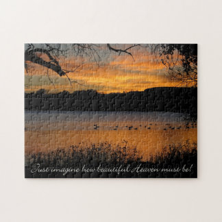 Just Imagine How Beautiful Heaven Must Be! Jigsaw Puzzle