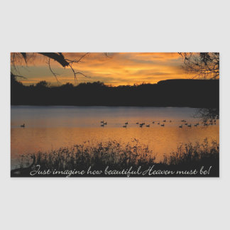 Just Imagine How Beautiful Heaven Must Be! Rectangular Sticker