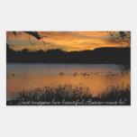 Just Imagine How Beautiful Heaven Must Be! Rectangular Sticker