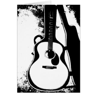 Just in Case Acoustic Guitar Greeting Card