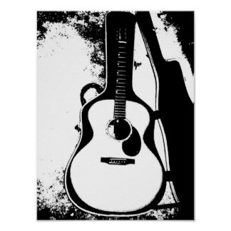 Just in Case Acoustic Guitar Poster