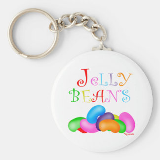 Just Jelly Beans Basic Round Button Keychain