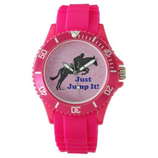 Just Jump It! Equestrian Horse Watch