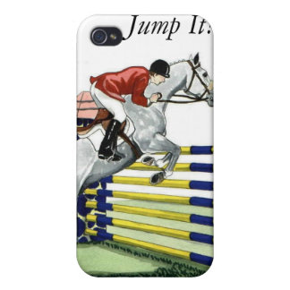 Just Jump It Equestrian iPhone 4 Cover