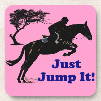 Just Jump It! Horse Drink Coaster