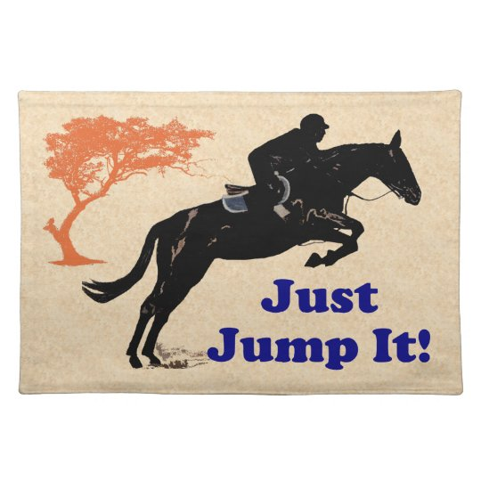 Just Jump It! Horse Placemat
