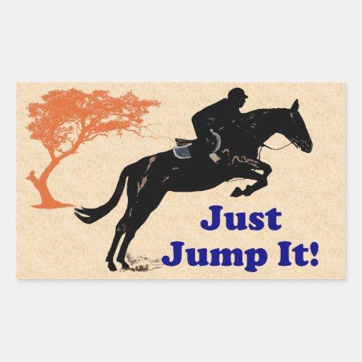 Just Jump It! Horse Rectangle Sticker