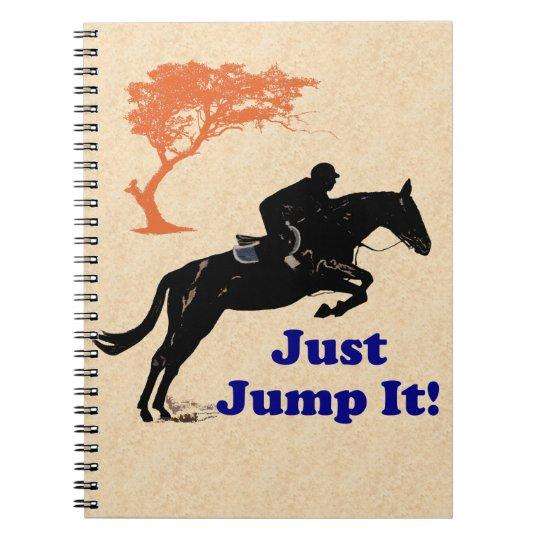 Just Jump It! Horse Spiral Notebook