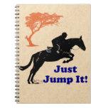 Just Jump It! Horse Spiral Notebooks