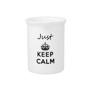 Just Keep Calm Black Text Pitcher