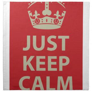 Just Keep Calm Printed Napkin