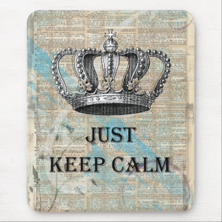 Just Keep Calm Vintage Abstract Art Grunge Design Mouse Pad