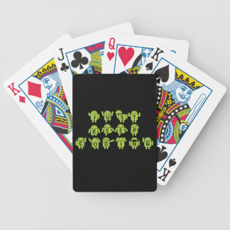 Just Keep Coding (Android Bug Droid Grey Bckgrnd) Bicycle Playing Cards