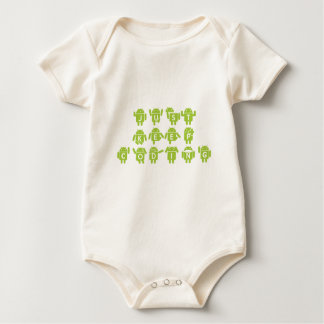 Just Keep Coding (Bug Droid Letters Font) Baby Bodysuit