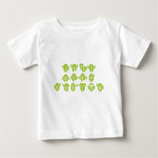 Just Keep Coding (Bug Droid Letters Font) Baby T-Shirt