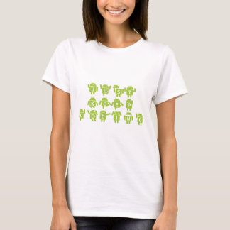 Just Keep Coding (Bug Droid Letters Font) T-Shirt