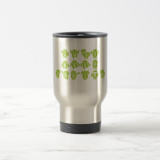 Just Keep Coding (Bug Droid Letters Font) Travel Mug