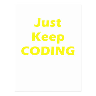 Just Keep Coding Postcard
