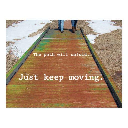 Just Keep Moving Postcard