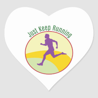 Just Keep Running Stickers