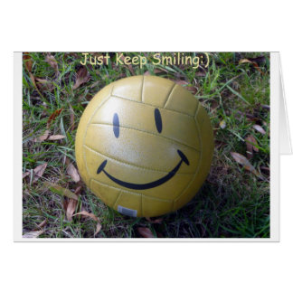 just keep smiling card
