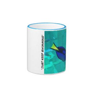 Just Keep Swimming Ringer Mug
