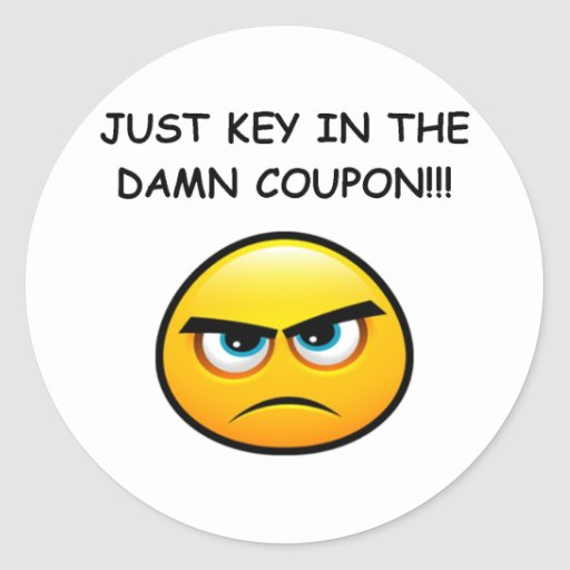 JUST KEY IN THE COUPON! CLASSIC ROUND STICKER