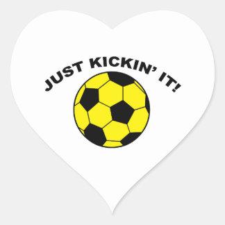 Just Kickin' It! Heart Sticker