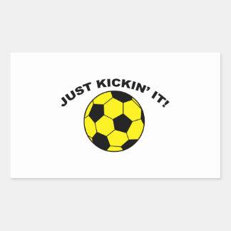 Just Kickin' It! Rectangular Sticker