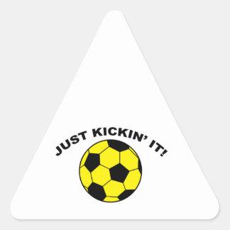 Just Kickin' It! Triangle Sticker