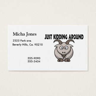 Just Kidding Around Goat Business Card