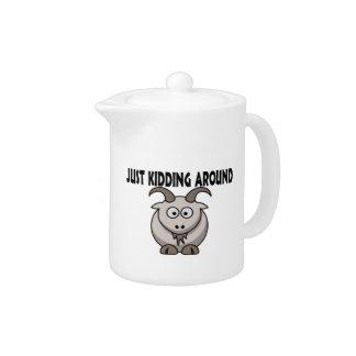 Just Kidding Around Goat Teapot