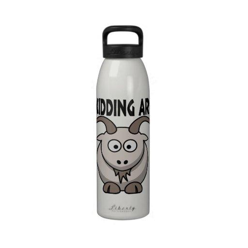 Just Kidding Around Goat Water Bottles