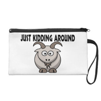 Just Kidding Around Goat Wristlet