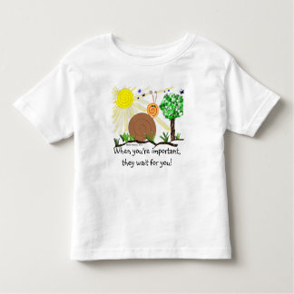 Just Kids at Heart - Snail (1a) - Important Person Toddler T-shirt