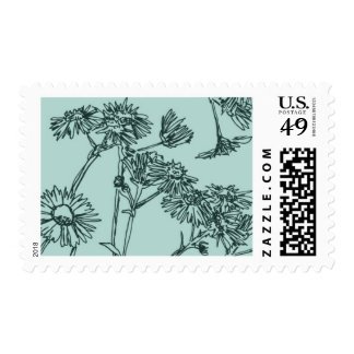 Just Landed Floral A by Ceci New York Stamps
