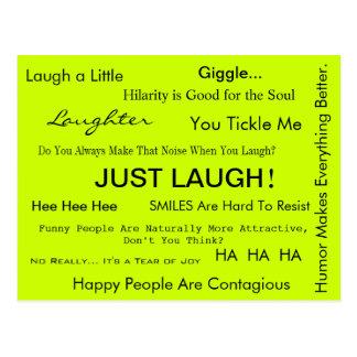 JUST LAUGH! Postcard by April McCallum